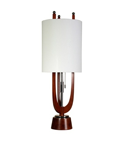 StyleCraft Wood/Steel Table Lamp, Portland