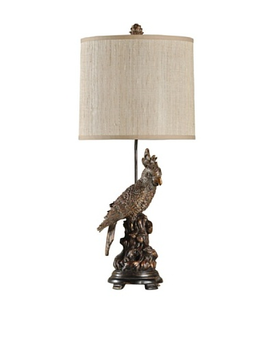 StyleCraft Perched Parrot Sculpture Table Lamp, Castelo