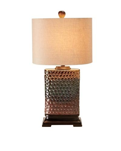 Stylecraft Dimpled Reactive Glazed Ceramic Table Lamp
