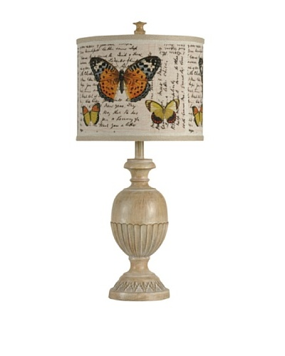 StyleCraft Poly Table Lamp, Washed Pine