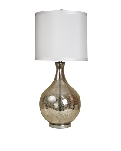StyleCraft Large Mercury Glass Urn-Style Table Lamp, Northbay