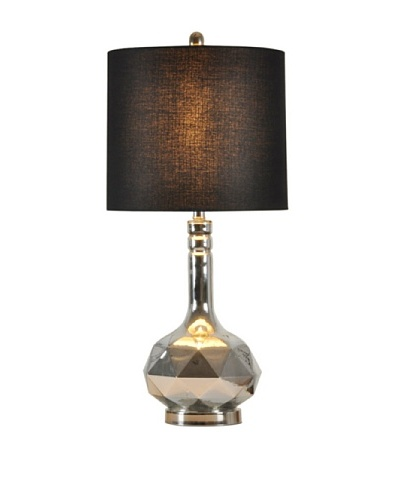 StyleCraft Glass/Metal Table Lamp, Silver