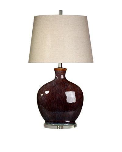 StyleCraft Ceramic/Acrylic Table Lamp, Plum