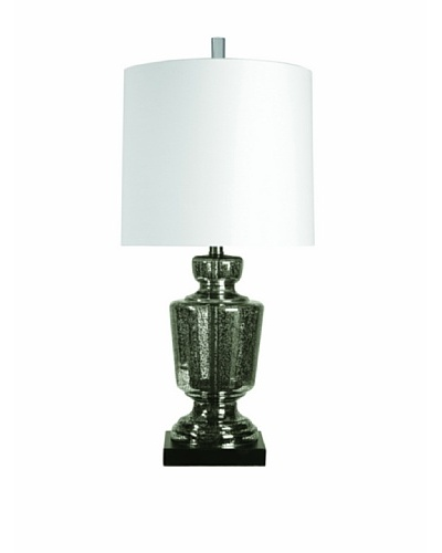 StyleCraft Steel/Glass Table Lamp, Manahan
