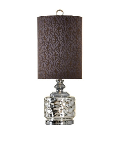 StyleCraft Glass Accent Lamp, Silver