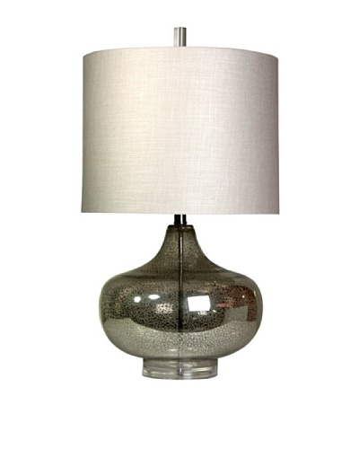 StyleCraft Glass/Acrylic Table Lamp, Antique Mercury