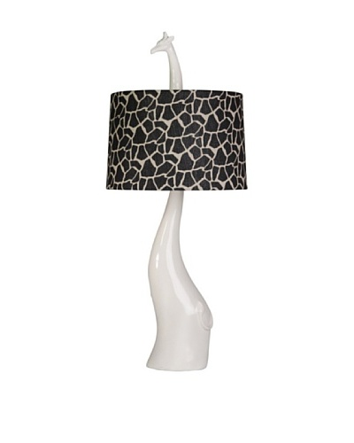 StyleCraft Poly Table Lamp, Gloss Ivory
