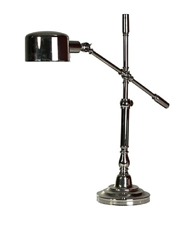 StyleCraft Metal Adjustable Table Lamp, Polished Nickel
