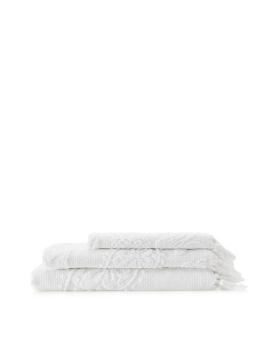 Successful Living from Diesel Skullace Towel Set, White