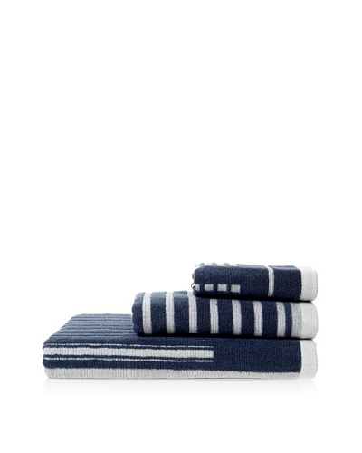 Successful Living from Diesel Selvedge Stripe Towel Set, Blue