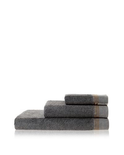 Successful Living from Diesel Selvedge Solid Towel Set, Denim Grey