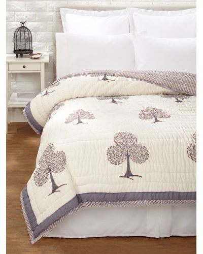 Suchiras Tree of Life Quilt [White/Grey/Red]