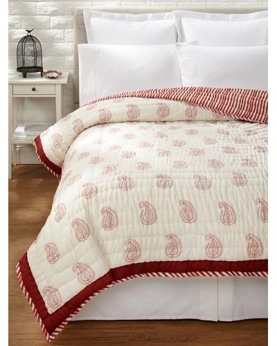 Suchiras Red Paisley Quilt