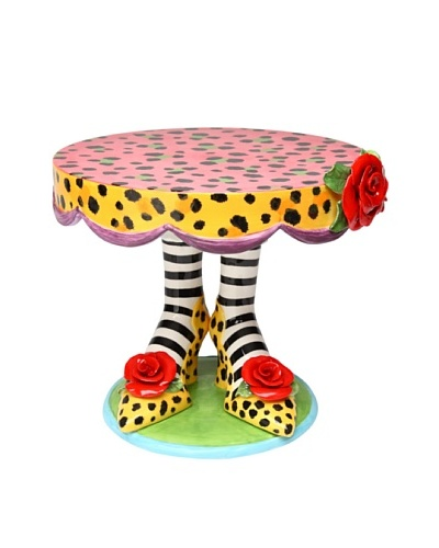 Sugar High Social Leopard Print Heels Large Cake Stand by Babs