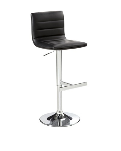 Sunpan Motivo Adjustable Barstool, Black