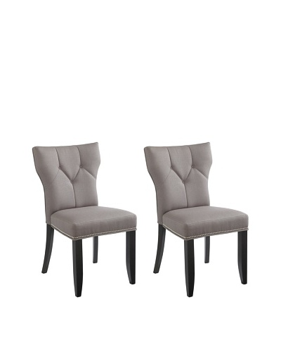 Sunpan Set of 2 Bernard Chairs, Linen