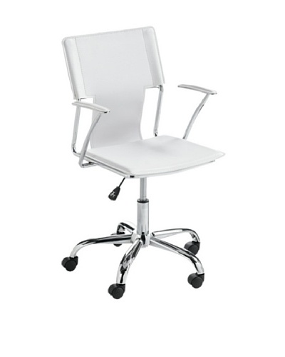 Sunpan Diplomat Office Chair, White