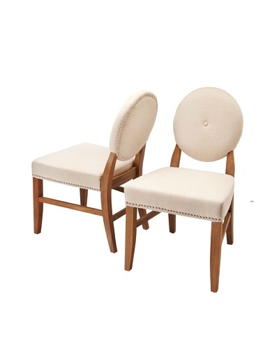 Sunpan Set of 2 Florence Chairs, Linen