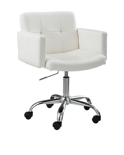 Sunpan Churchill Office Chair, White