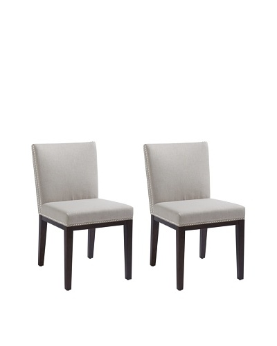 Sunpan Set of 2 Vintage Chairs, Grey
