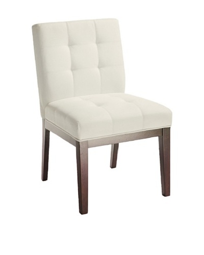 Sunpan Set of 2 White Felicia Dining Chairs
