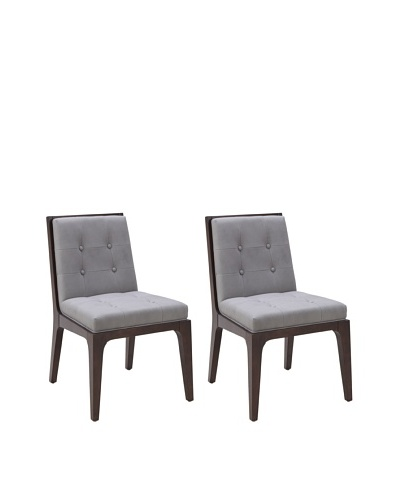 Sunpan Set of 2 Harrison Chairs, Artic Grey