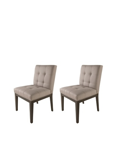 Sunpan Set of 2 Felicia Dining Chairs, Linen