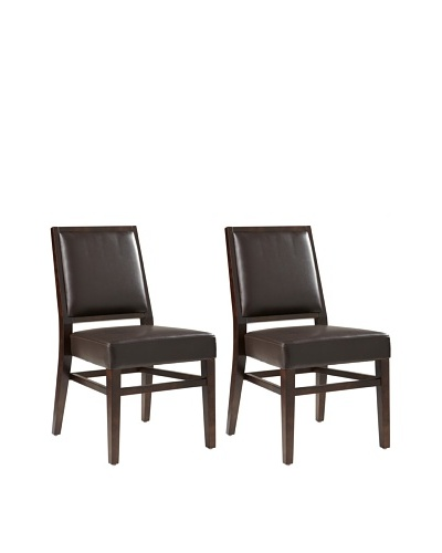 Sunpan Set of 2 Citizen Chairs, Brown