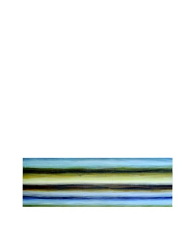 Sunpan Blue and Brown Stripes Art