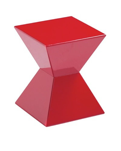 Sunpan Rocco End Table, Red