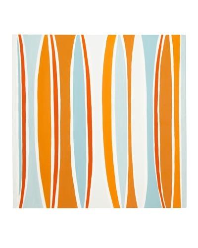 Sunpan Orange & Teal Curves Art