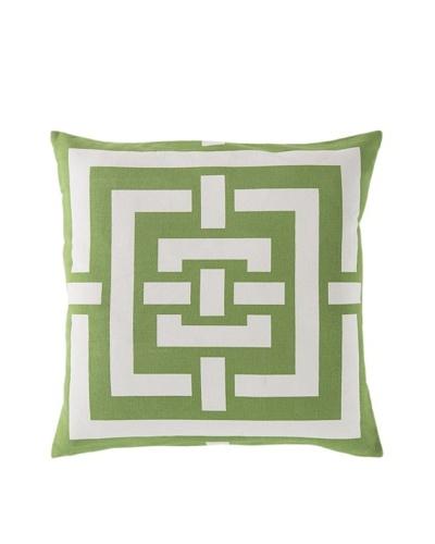 Surya Geometric Throw Pillow, Apple Green/Ivory