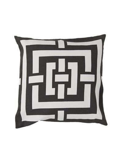 Surya Geometric Throw Pillow, Dark Forest/Ivory