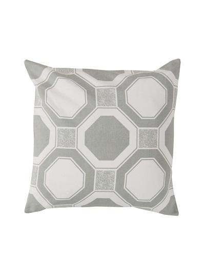 Surya Geometric Throw Pillow, Whisper White
