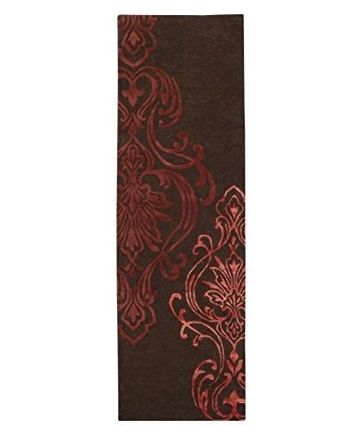 "Surya Candice Olson Modern Classics Rug, Chocolate/Rust/Brick, 2' 6"" x 8'"