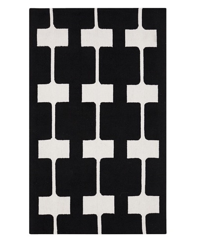 Surya Printemps Abstract Contemporary Area Rug, Black Olive, 2'x2'9""