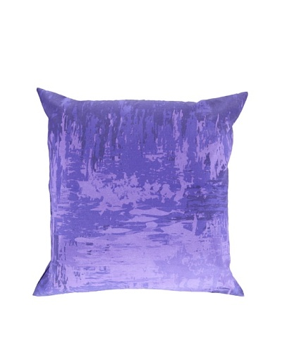 Surya Watercolor-Inspired Throw Pillow