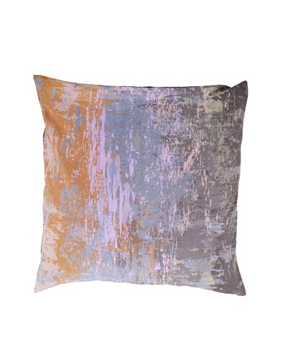 "Surya Watercolor-Inspired Throw Pillow, Excalibur, 22"" x 22"""