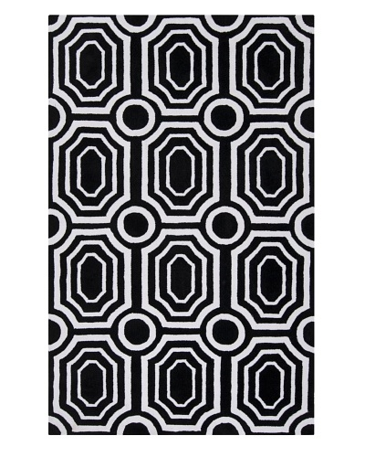 Surya Hudson Park Rug, Jet Black/White, 3' 3 x 5' 3As You See