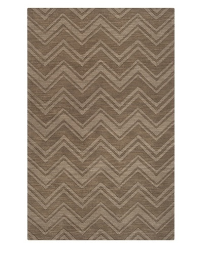 Surya M-437 Mystique Chevron Area Rug, 5-Feet by 8-Feet, Raw Umber