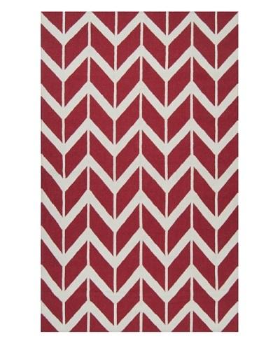 Surya Fallon Rug [Venetian Red/White]
