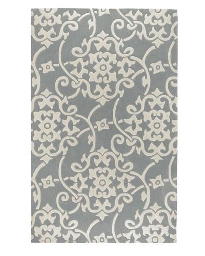 Surya Cosmopolitan Rug, Ivory/Ash Gray/Mint, 5' x 8'