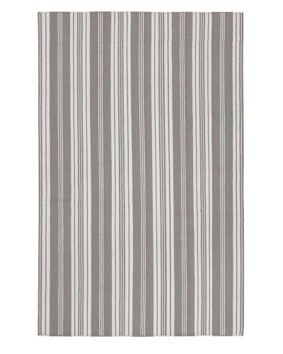 Surya Flatweave Rugs Farmhouse Stripes [Flint Gray/White]