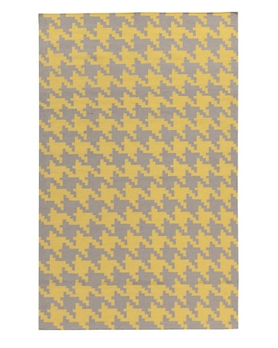 Surya Flatweave Rugs Frontier, Yellow/Elephant Gray, 5' x 8'