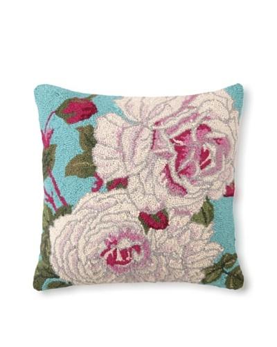 "Suzanne Nicoll Centifolia Roses 18"" x 18"" Hook Pillow"