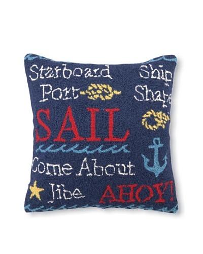 "Suzanne Nicoll Sail 18"" x 18"" Hook Pillow"