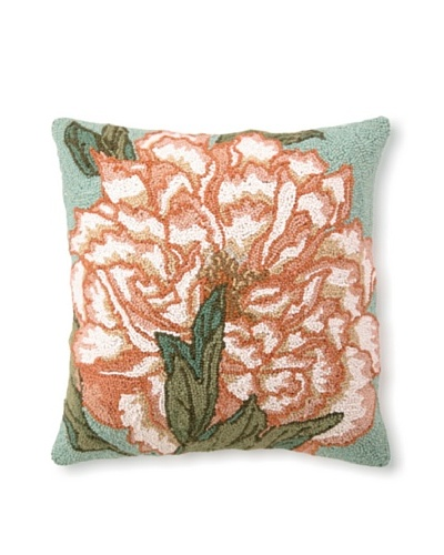 Suzanne Nicoll Floral Panel 18 x 18 Hook Pillow