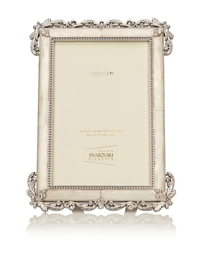 "Swarovski by Argento SC Eternity Mother-of-Pearl Picture Frame, Ivory, 4"" x 6"""