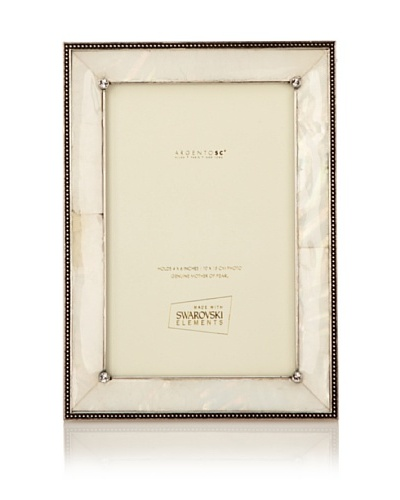Swarovski by Argento SC Romance Mother-of-Pearl Picture Frame [Ivory]
