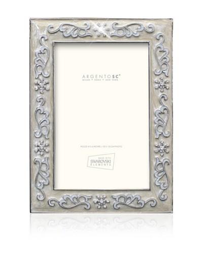 """Swarovski by Argento SC Precious Picture Frame, Ivory, 4"""" x 6"""""""